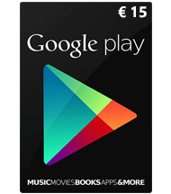 Google Play Giftcard 15 euro